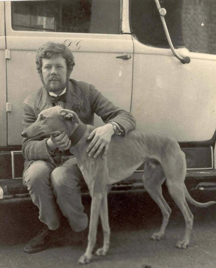 Douglas Gray with one of his dogs