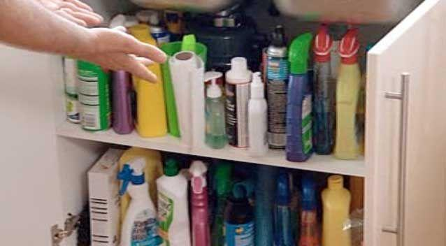 Experts recomment cutting back on cleaning chemicals. Photo: 7News