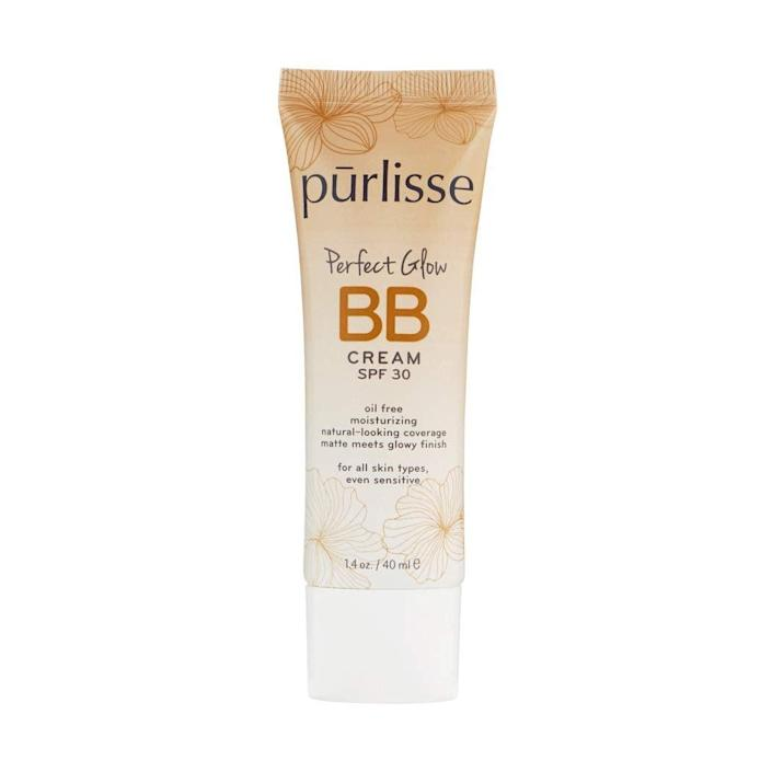 """<h2>Purlisse<br></h2><br>Get 25% off all products<br><br><strong><em>Shop <a href=""""https://amzn.to/3cJNVLH"""" rel=""""nofollow noopener"""" target=""""_blank"""" data-ylk=""""slk:Purlisse"""" class=""""link rapid-noclick-resp"""">Purlisse</a></em></strong><br><br><strong>purlisse</strong> Perfect Glow BB Cream SPF 30, $, available at <a href=""""https://amzn.to/2U8jxEf"""" rel=""""nofollow noopener"""" target=""""_blank"""" data-ylk=""""slk:Amazon"""" class=""""link rapid-noclick-resp"""">Amazon</a>"""