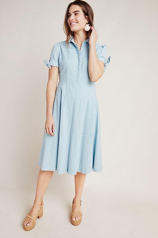 Judith Eyelet Midi Dress by Gal Meets Glam. Image via Anthropologie.