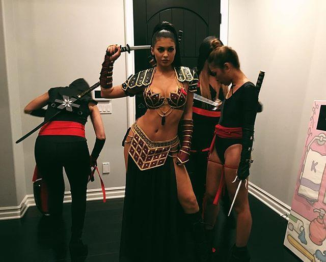 "<p>Kylie's costume comes complete with besties dressed as ninjas. </p><p><a href=""https://www.instagram.com/p/9iA-Q5HGhw/?utm_source=ig_embed&utm_campaign=loading"" rel=""nofollow noopener"" target=""_blank"" data-ylk=""slk:See the original post on Instagram"" class=""link rapid-noclick-resp"">See the original post on Instagram</a></p>"