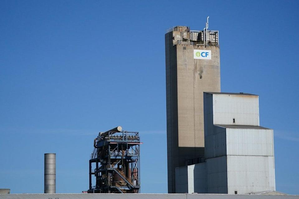A view of the CF Fertilisers plant in Billingham (PA) (PA Wire)