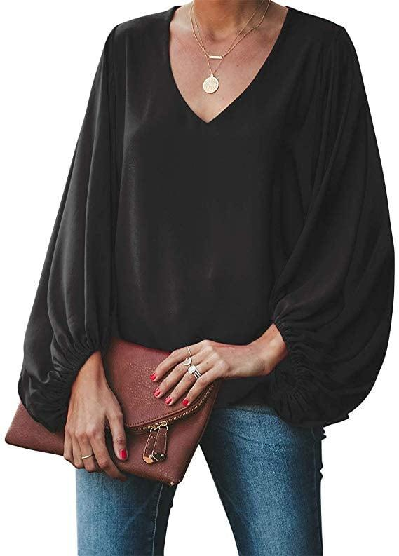 "<p>This <a href=""https://www.popsugar.com/buy/Belongsci-V-Neck-Blouse-Top-522518?p_name=Belongsci%20V-Neck%20Blouse%20Top&retailer=amazon.com&pid=522518&price=28&evar1=fab%3Aus&evar9=45885547&evar98=https%3A%2F%2Fwww.popsugar.com%2Ffashion%2Fphoto-gallery%2F45885547%2Fimage%2F47157584%2FBelongsci-V-Neck-Blouse-Top&list1=shopping%2Ctops%2Cshirts%2Cblouses%2Cspring%20fashion&prop13=mobile&pdata=1"" rel=""nofollow"" data-shoppable-link=""1"" target=""_blank"" class=""ga-track"" data-ga-category=""Related"" data-ga-label=""https://www.amazon.com/BELONGSCI-Womens-Casual-Balloon-Sleeve/dp/B07NPP3MTV/ref=zg_bs_7147440011_73?_encoding=UTF8&amp;refRID=52REY0Z18MX4G4YFEGVT&amp;th=1&amp;psc=1"" data-ga-action=""In-Line Links"">Belongsci V-Neck Blouse Top</a> ($28, originally $38) is a customer favorite.</p>"