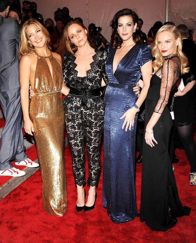 "Kate Hudson, Liv Tyler, and Kate Bosworth lit up the red carpet in gowns designed by Stella McCartney. Kevin Mazur/<a href=""http://www.wireimage.com"" target=""new"">WireImage.com</a> - May 4, 2009"