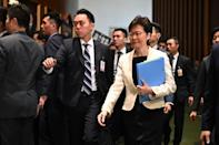 Chief Executive Carrie Lam has faced an outpouring of anger from her opponents since the legislature opened its doors for a new session on Wednesday