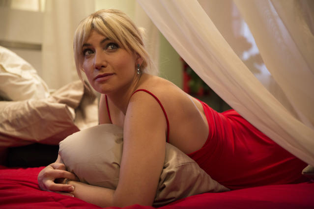 Ari Graynor in  <em>The Disaster Artist</em>; she plays Juliette Danielle, who plays Lisa in the film-within-a-film <em>The Room</em>. (Photo by Justina Mintz, courtesy of A24)