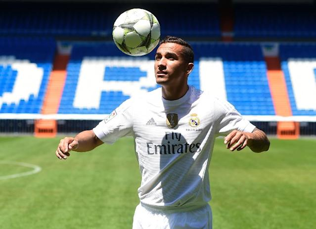 Brazilian Danilo has made just two appearances for Los Blancos since joining from Porto in the close season for 31.5 million euros ($35.2 million, £22.9 million) (AFP Photo/Pierre-Philippe Marcou)