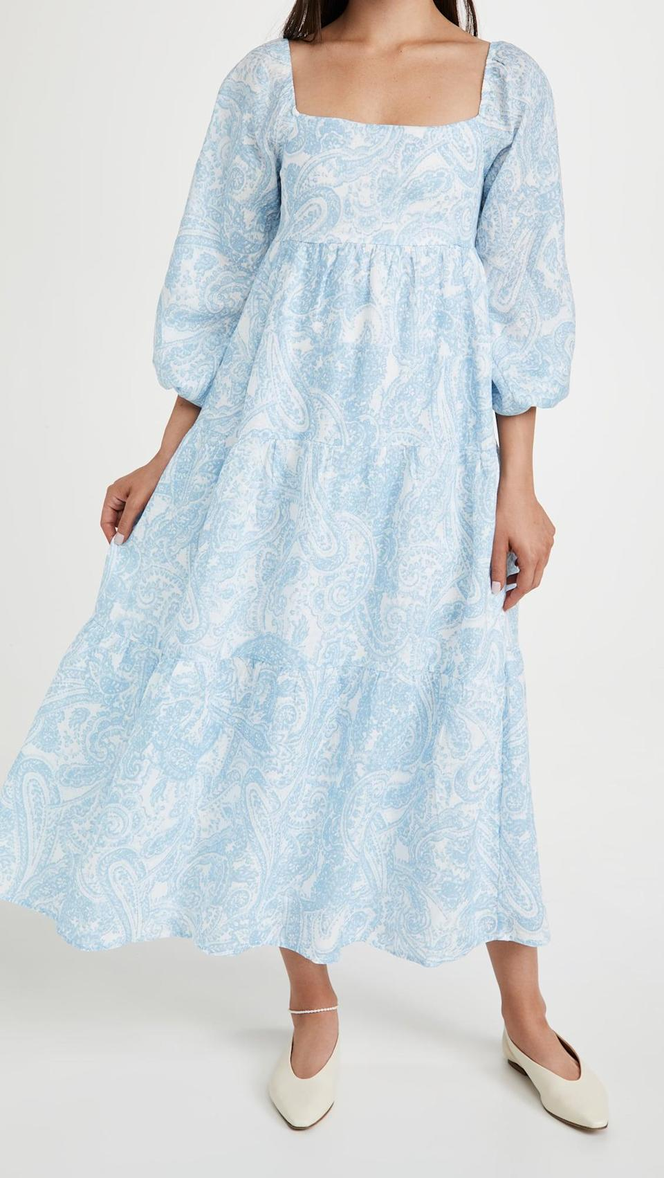<p>This flowy <span>FAITHFULL THE BRAND Alison Midi Dress</span> ($319) is so lightweight and comfortable.</p>