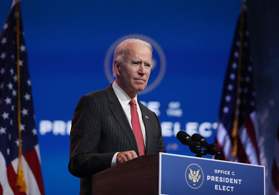 Joe Biden says it is 'hard to fathom' how Donald Trump thinks as he branded his bid to overturn the election 'outrageous' (Getty Images)