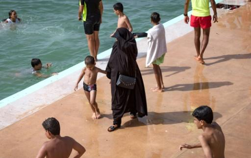 Despite tight security that provides protection from harassment, many women are still reluctant to don swimsuits at Rabat's new public swimming pool