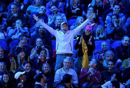 Tennis - ATP World Tour Finals - The O2 Arena, London, Britain - November 18, 2017 Fans during the semi final match between Switzerland's Roger Federer and Belgium's David Goffin Action Images via Reuters/Tony O'Brien
