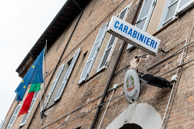 PIACENZA, ITALY - JULY 24: An exterior view of the via Caccialupo Carabinieri station in Piacenza on July 24, 2020 in Piacenza, Italy. The building has been seized after a group of Carabinieri have been arrested after investigators uncovered a raft of alleged crimes. (Photo by Marco Mantovani/Getty Images)
