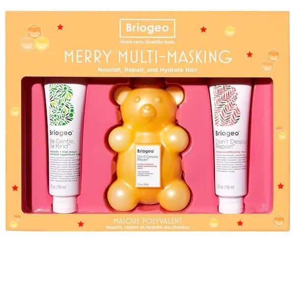 <p>While the <em>beary</em> cute honey deep-conditioning mask is too big for a carry-on, the other two masks in this <span>Briogeo Merry Multi-Masking Kit</span> ($36) can easily slip into a tiny bag if your loved one is taking off.</p>