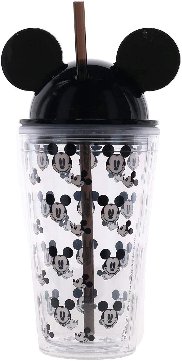 <p>Sip on your favorite iced coffee in this cute <span>Happy Mickey Multi Faces Ear Tumbler, Black</span> ($15).</p>