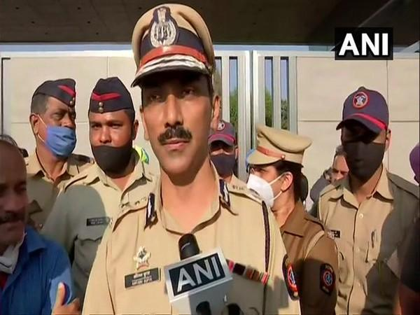 Pune Police Commissioner talking about fire incident at SII's Manjri plant, which started on Thursday afternoon. (Photo/ANI)