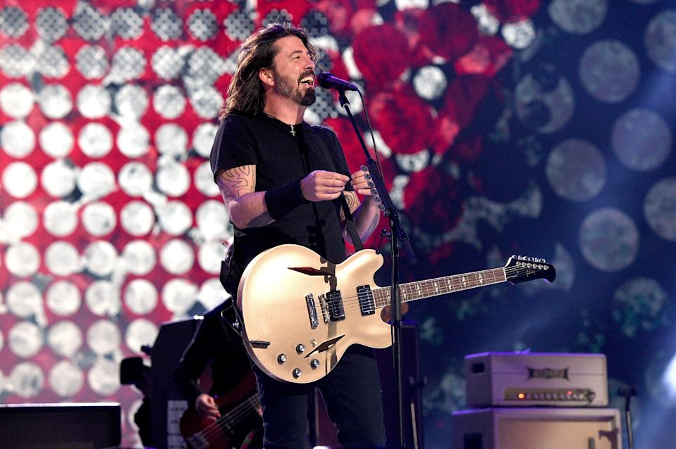 The Foo Fighters perform onstage during Global Citizen's Vax Live concert.