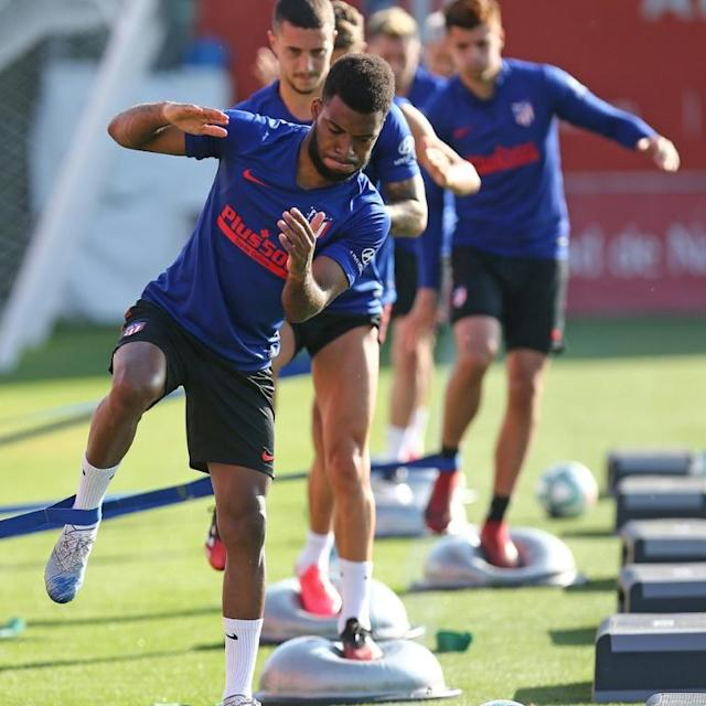Atletico Madrid players continued training on Monday ahead of a possible La Liga restart in mid-June (AFP Photo/Handout)
