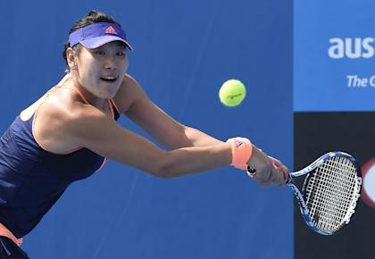 Duan Ying-Ying of China, 6-foot-1, will be Bouchard's first-round opponent. (AP Photo/Andy Brownbill)