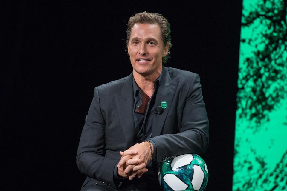 matthew mcconaughey attend the announcement of his relationship with austin fc of MLS