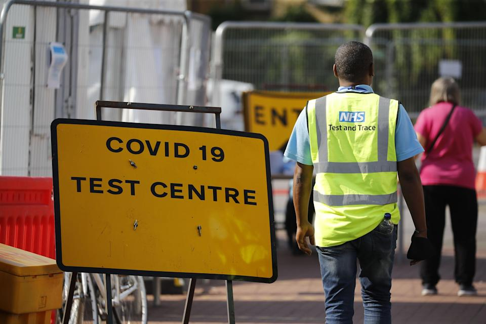 The UK reported around 7,100 more positive coronavirus tests on Tuesday (AFP via Getty Images)