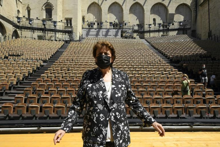 French Culture Minister Roselyne Bachelot at the Papal Palace main festival venue