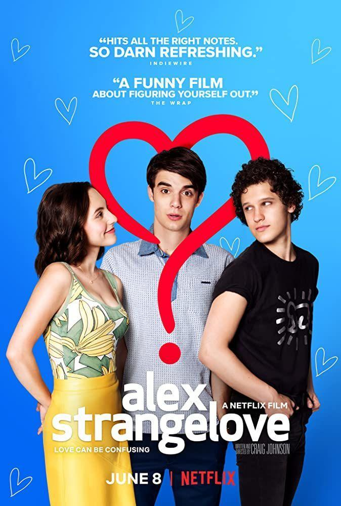 """<p>This is a fictional movie about high school student Alex Strangelove figuring out his sexuality. It's one of the rare examples of a movie about a gay character that doesn't center around tragedy (looking at you, <em>Brokeback Mountain</em>). </p><p>The movie, however, has faced some criticism over <a href=""""https://www.refinery29.com/en-us/2018/06/201612/netflix-alex-strangelove-bisexual-erasure-gay-movies"""" rel=""""nofollow noopener"""" target=""""_blank"""" data-ylk=""""slk:its portrayal of bisexuality"""" class=""""link rapid-noclick-resp"""">its portrayal of bisexuality</a>. Early in the film, Alex's friend shuts down Alex's notion that he might be bi, and the film uses <a href=""""https://www.popbuzz.com/tv-film/features/alex-strangelove-bi-erasure/"""" rel=""""nofollow noopener"""" target=""""_blank"""" data-ylk=""""slk:tired stereotypes about bisexuals"""" class=""""link rapid-noclick-resp"""">tired stereotypes about bisexuals</a> without offering counterpoints to show how that line of thinking is problematic. </p>"""