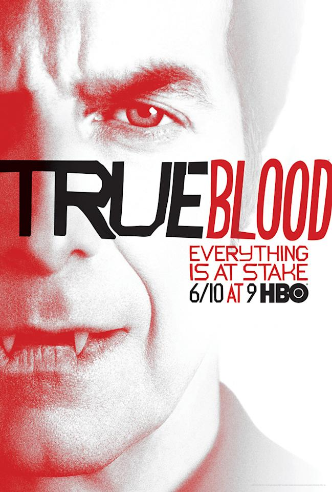 """True Blood"" Season 5 poster featuring Russell Edgington (Denis O'Hare)"