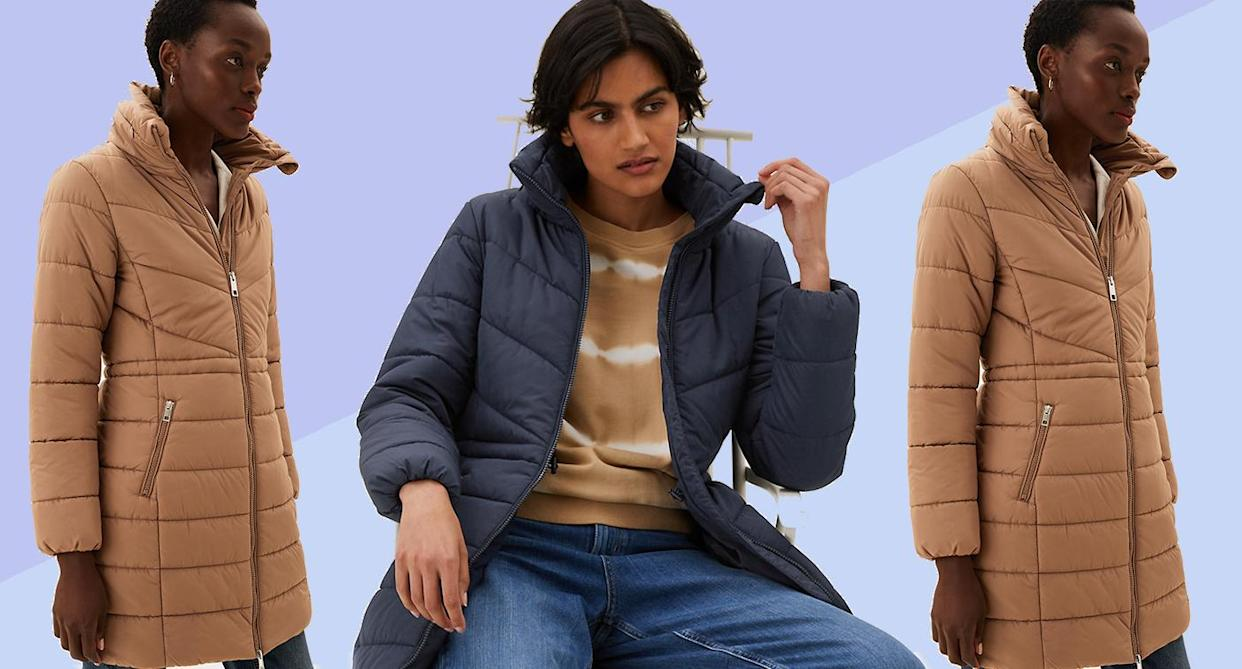 The M&S' Puffer Coat to snap up now. (Marks and Spencer)
