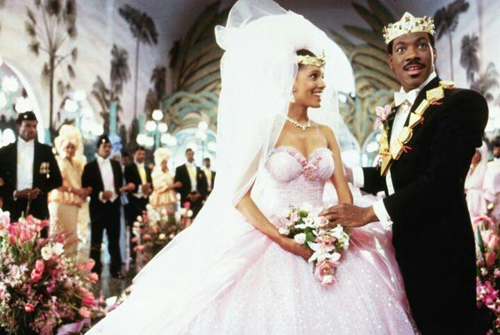 <p>The pink wedding dress and gold crown worn by Lisa McDowell (played by Shari Headley) is just so good. </p>
