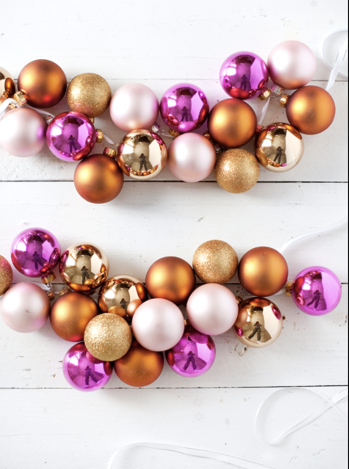 """<p>Because this eye-catching garland is so full, you won't need much else—maybe just your stockings!—to make your mantel look fully styled. </p><p><a href=""""https://abeautifulmess.com/diy-holiday-garlands-5-ways/"""" rel=""""nofollow noopener"""" target=""""_blank"""" data-ylk=""""slk:Get the tutorial."""" class=""""link rapid-noclick-resp"""">Get the tutorial.</a></p><p><a class=""""link rapid-noclick-resp"""" href=""""https://www.amazon.com/Sea-Team-Christmas-Multicolor-choice-Multicolored/dp/B013SYDZ9W/?tag=syn-yahoo-20&ascsubtag=%5Bartid%7C10072.g.37499128%5Bsrc%7Cyahoo-us"""" rel=""""nofollow noopener"""" target=""""_blank"""" data-ylk=""""slk:SHOP ORNAMENTS"""">SHOP ORNAMENTS</a></p>"""