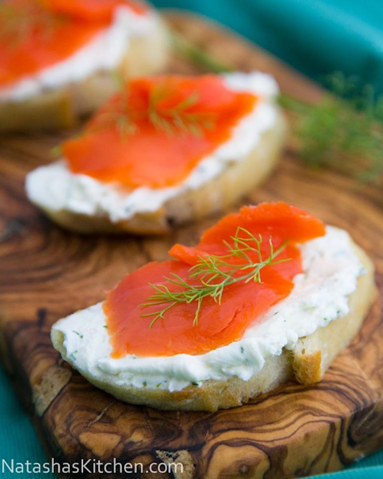 "Use any leftover <a rel=""nofollow"" href=""https://natashaskitchen.com/smoked-salmon-tea-sandwiches-canapes/"">smoked salmon</a> from these simple canapés for a quick Black Friday breakfast."