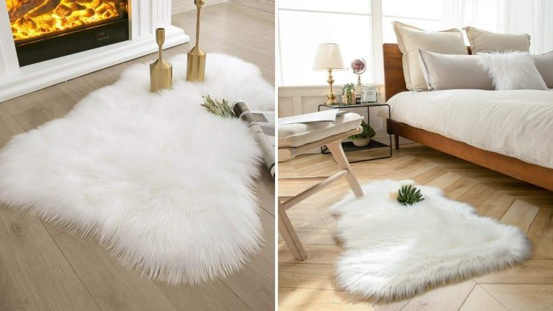 This shaggy rug offers immediate comfort.