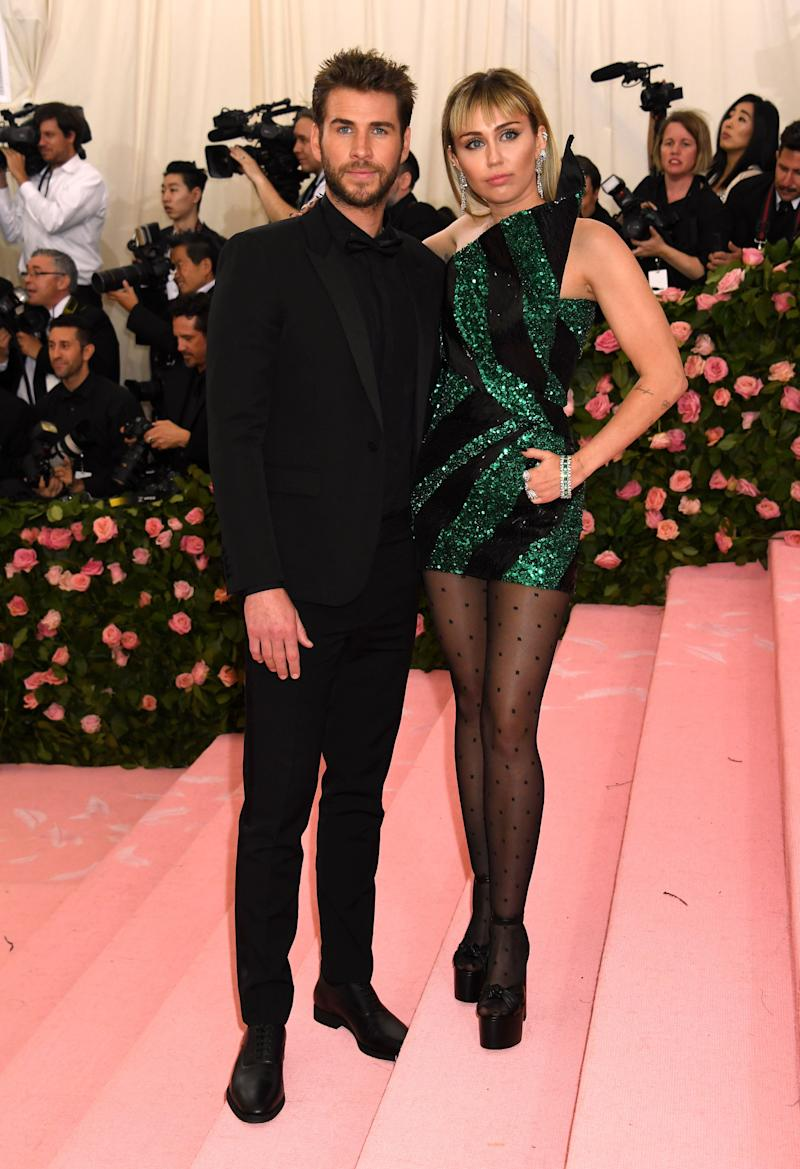 Liam Hemsworth and Miley Cyrus at last year's Met Gala (Photo: Jennifer Graylock - PA Images via Getty Images)