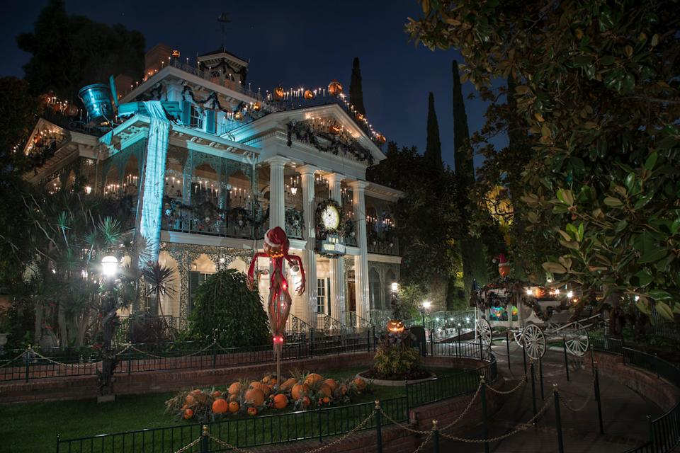 """Out in California, the characters from Tim Burton's """"The Nightmare Before Christmas"""" return for their annual takeover of a classic Disneyland Park attraction, which will be renamed Haunted Mansion Holiday, straight through the Halloween and holiday seasons."""