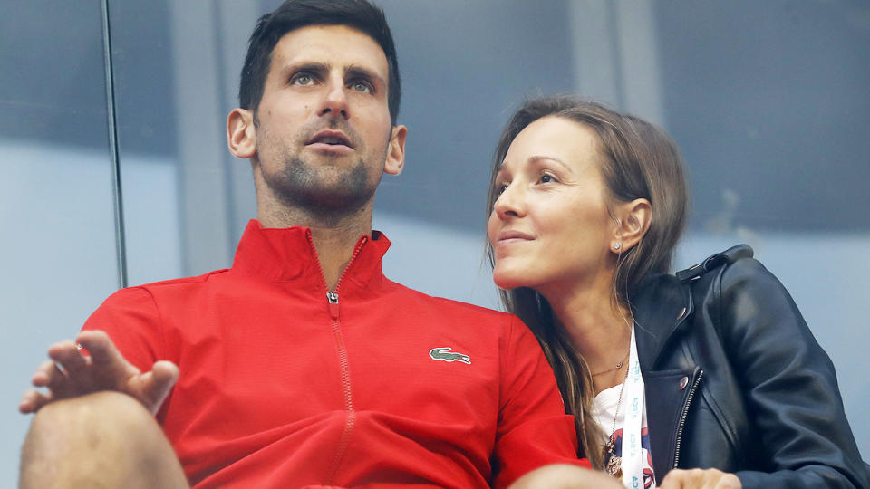 Novak and Jelena Djokovic, pictured here in Serbia during the Adria Tour.