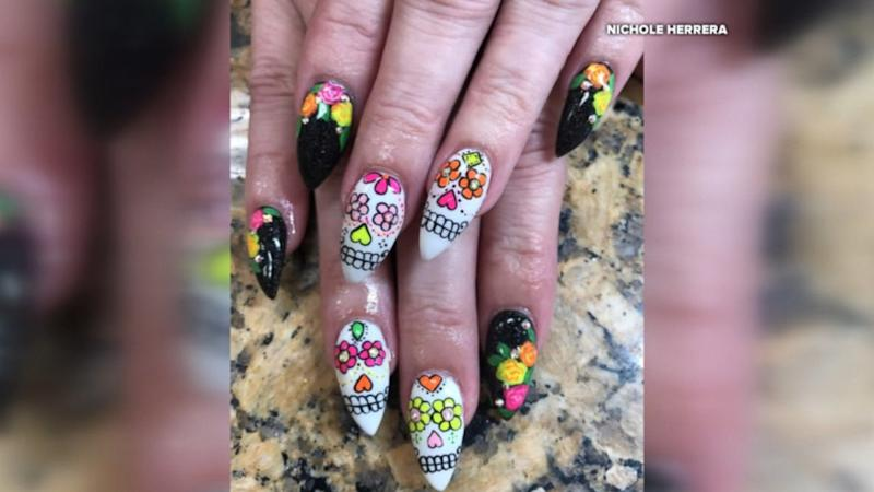 This woman doesn\'t mess around with her Halloween nail art