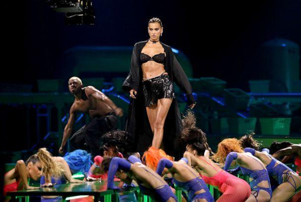 PHOTO: In this image released on Oct. 1, 2020, Irina Shayk is seen onstage during Rihanna's Savage X Fenty Show Vol. 2 presented by Amazon Prime Video at the Los Angeles Convention Center in Los Angeles. (Jerritt Clark/Getty Images for Savage X Fenty Show Vol. 2 Presented by Amazon Prime Video)