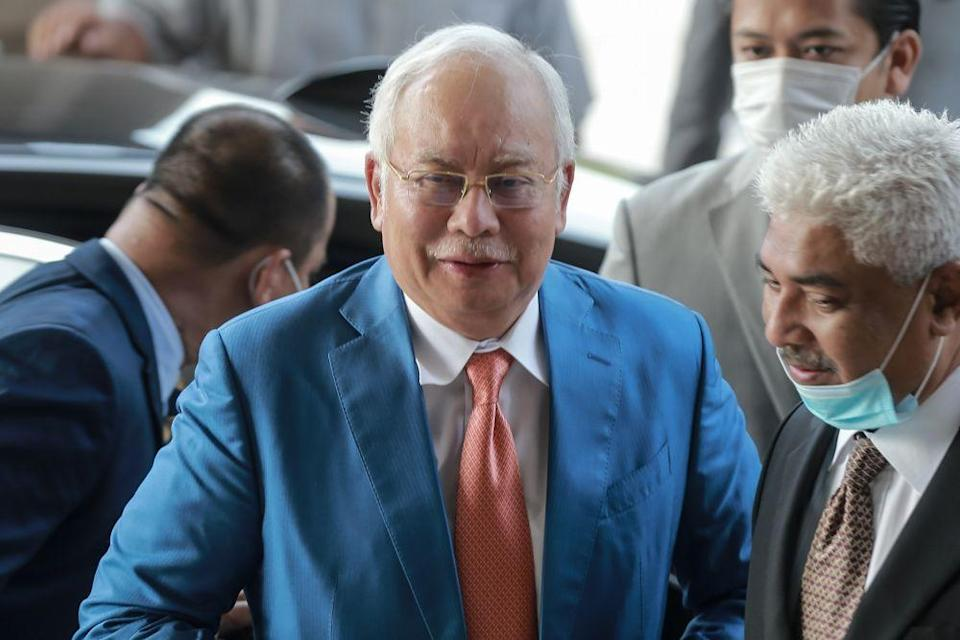 Pekan MP Datuk Seri Najib Razak says 'someone' should take away all Tun Dr Mahathir Mohamad's social media accounts before he does more damage. — Picture by Ahmad Zamzahuri