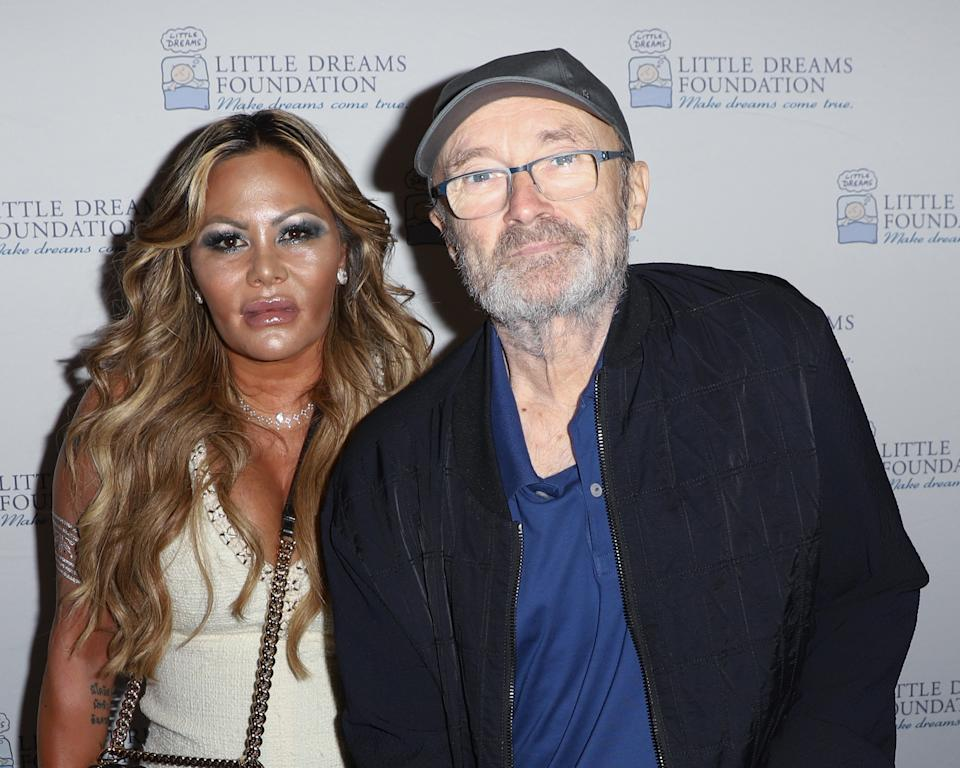 MIAMI BEACH, FL - OCTOBER 02:  Orianne Collins and Phil Collins are seen at Little Dreams Foundation's Little Dreamers 2018 at The Lounge at The Setai on October 2, 2018 in Miami Beach, Florida.  (Photo by John Parra/Getty Images)