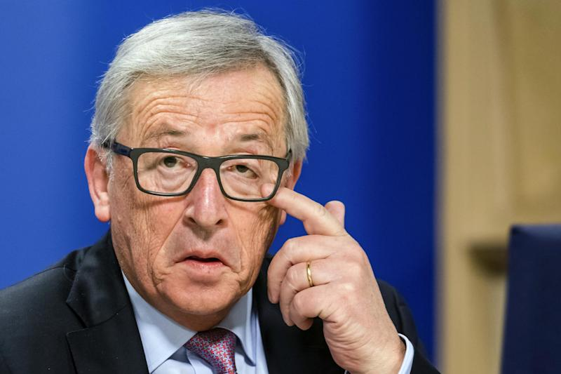 Holding out hope: European Commission President Jean-Claude Juncker: AP