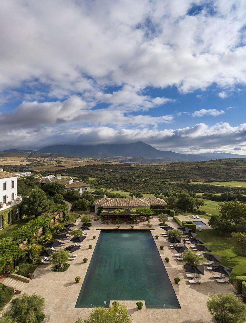 """<p>There are actually four swimming pools on this 532-acre estate, which also houses a 67-suite<a href=""""http://www.fincacortesin.com"""" rel=""""nofollow noopener"""" target=""""_blank"""" data-ylk=""""slk:luxury hotel"""" class=""""link rapid-noclick-resp""""> luxury hotel</a>, villas for rental, championship golf course, amazing spa, Michelin-star dining and a Beach Club. Skegness this is not.</p>"""