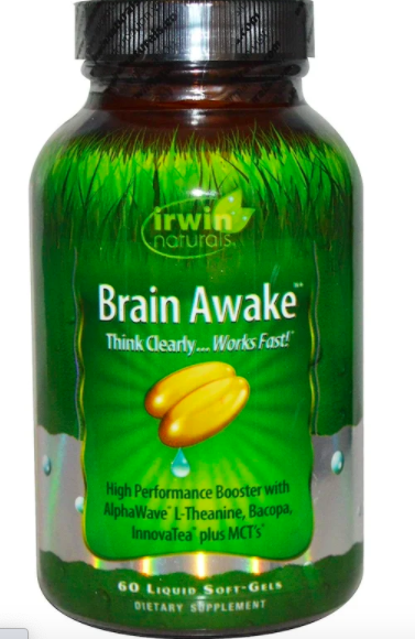 Irwin Naturals, Brain Awake, 60 liquid soft-gels, S$20.10 (was S$25.12). PHOTO: iHerb