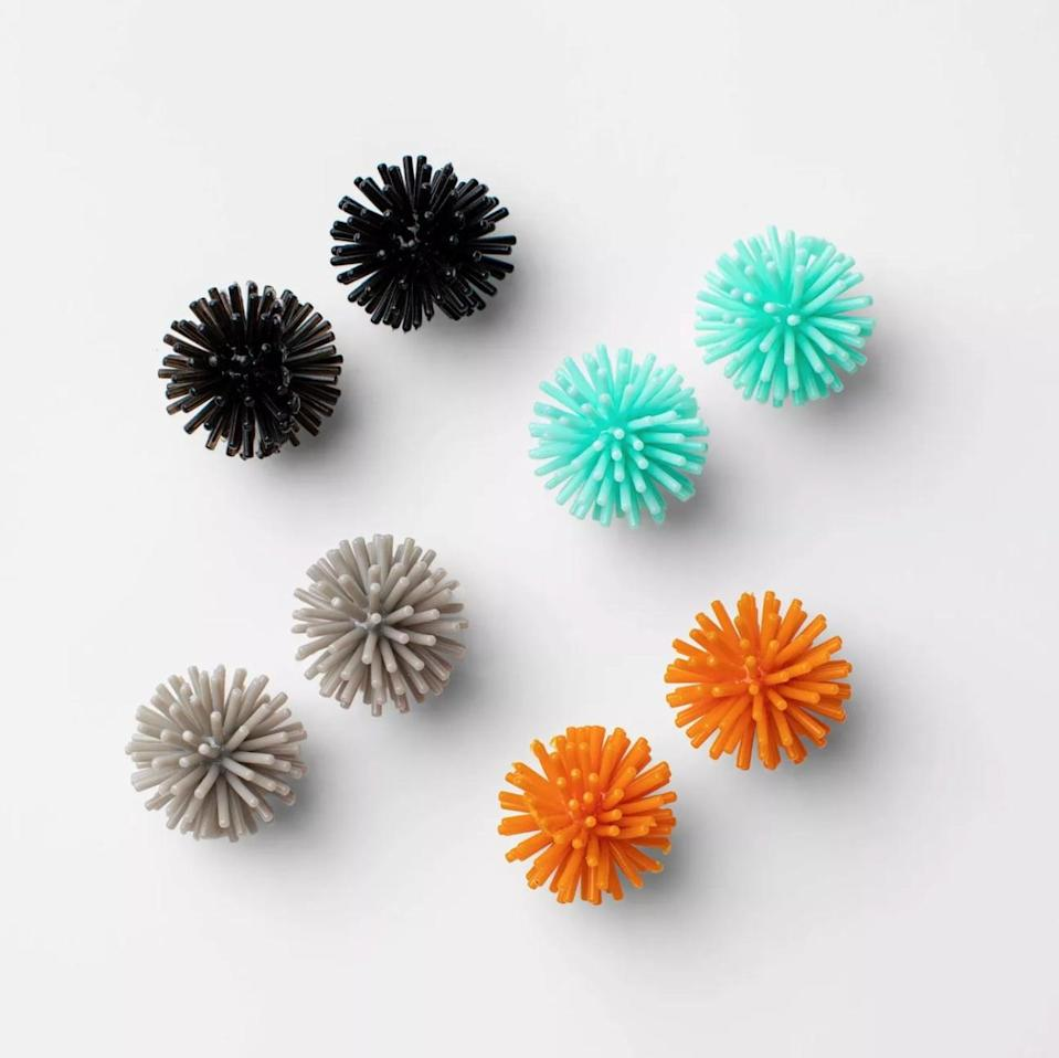 <p>There's just something about the texture of these <span>Hyde & EEK! Boutique 8-CountMini Spiky Balls</span> ($1) that kids - and adults! - can't get enough of.</p>