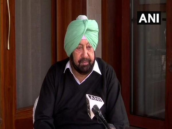 Punjab Chief Minister Captain Amarinder Singh speaking with ANI on Wednesday. (Photo/ANI)