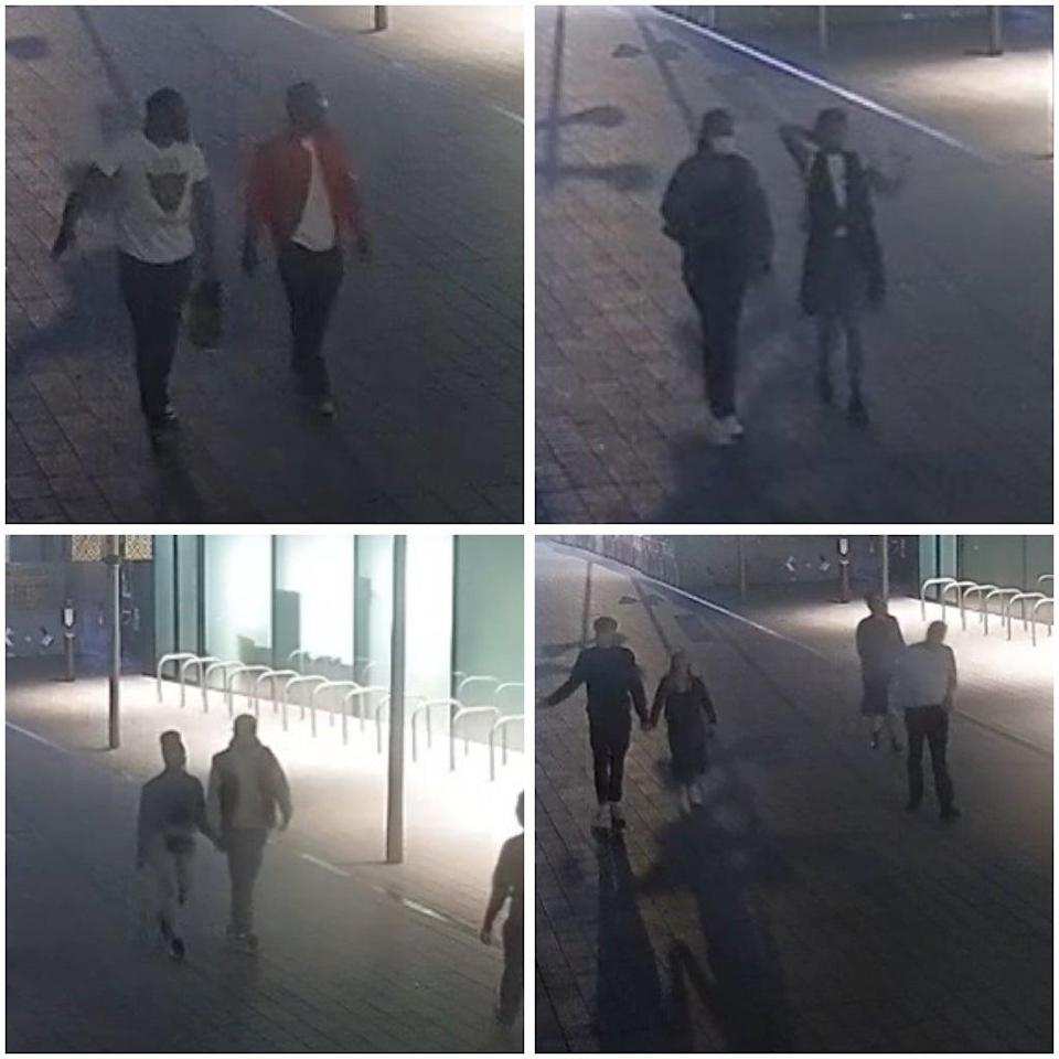Police would like to speak to these people who may have walked past the assault without realising (Met Police)