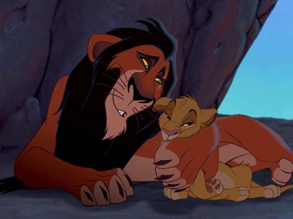 Scar and Simba in The Lion King (Disney)