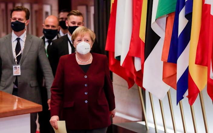 German Chancellor Angela Merkel - Olivier Hoslet/Pool via REUTERS