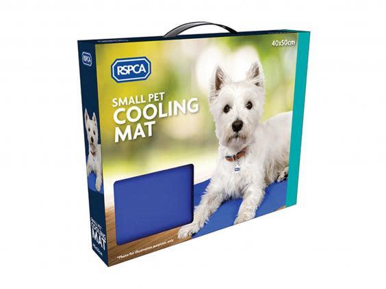 This mat is filled with a cooling gel that's activated by pressure (RSPCA)