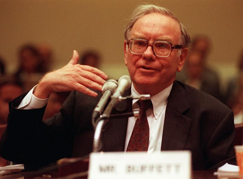 FILE-- Warren E. Buffett appears before a House Commerce subcommittee in this September 1991 file photo. Stock in Wells Fargo & Co. fell 5 percent Thursday on speculation that billionaire investor Warren Buffett sold his stake in the struggling banking company. Wells was omitted from a list of Buffett's major holdings in a regulatory filing, leading investors to believe his Berkshire Hathaway Inc. investment company had dumped the stock. (AP Photos/File)