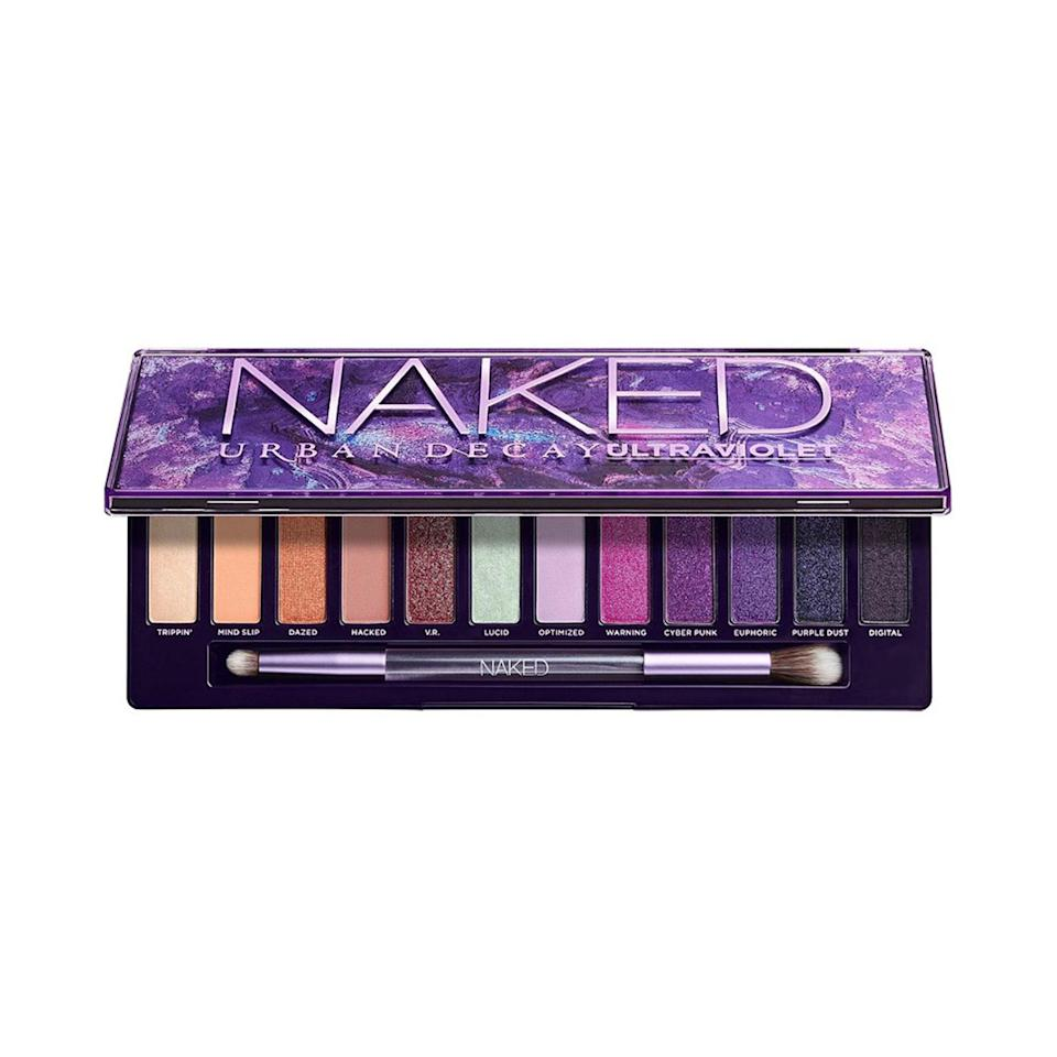 """Inspired by the brand's history with purple makeup, Urban Decay created <a href=""""https://www.allure.com/story/urban-decay-naked-ultraviolet-eye-shadow-palette?mbid=synd_yahoo_rss"""" rel=""""nofollow noopener"""" target=""""_blank"""" data-ylk=""""slk:Ultraviolet"""" class=""""link rapid-noclick-resp"""">Ultraviolet</a>, the latest in the Naked eye shadow palette franchise. Unlike its predecessors, this one comes loaded with vibrant pink and purple hues, plus one color-shifting topper called Lucid."""
